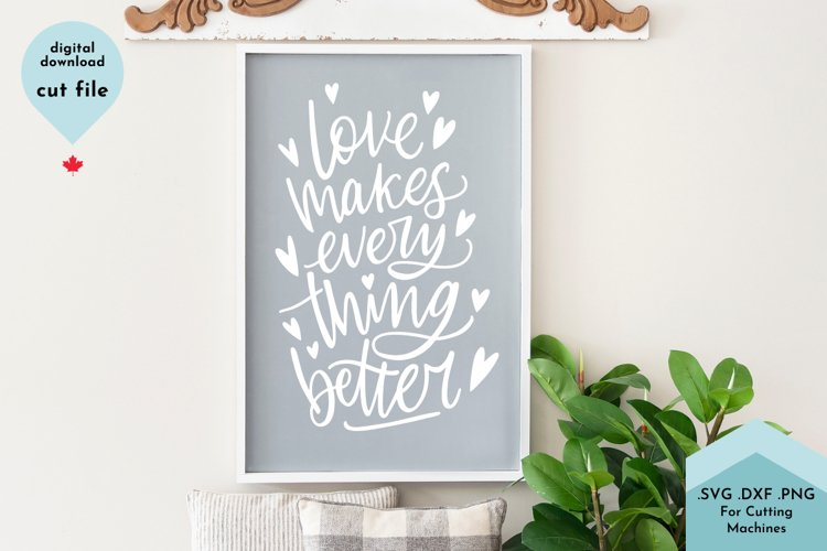 Love Makes Everything Better - Couples sign example