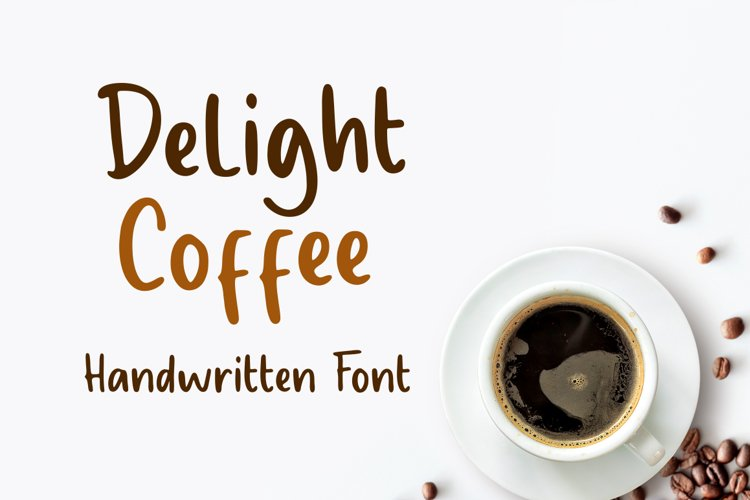 Delight Coffee - Display Font
