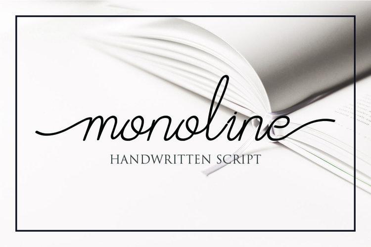Afrida - monoline script font example image 1
