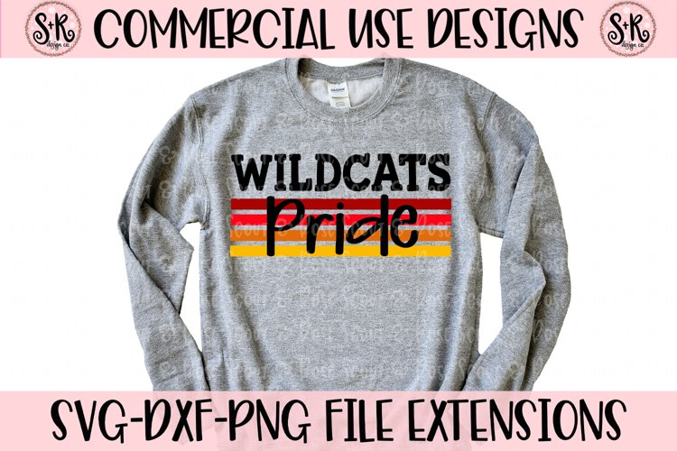Wildcats Pride SVG DXF PNG example image 1