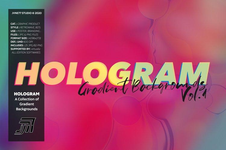 HOLOGRAM Gradient Backgrounds Vol.1 example image 1