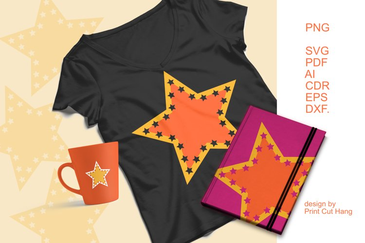 Cuttable Star Clipart SVG PDF AI DXF for Crafts and Prints