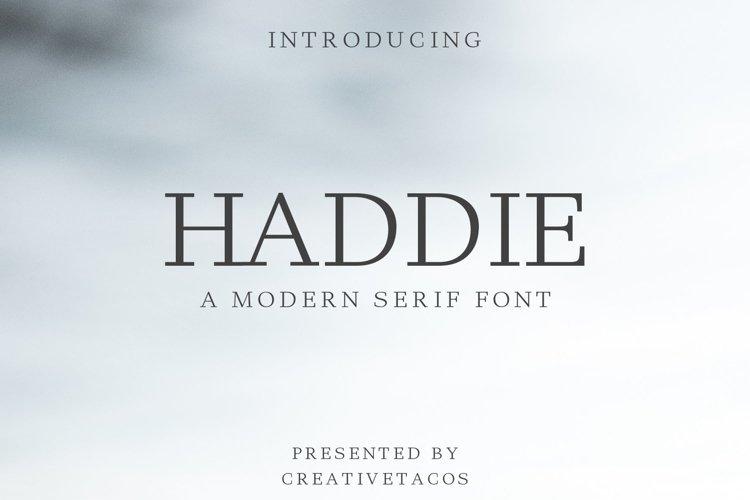 Haddie Modern Serif Font Family example image 1