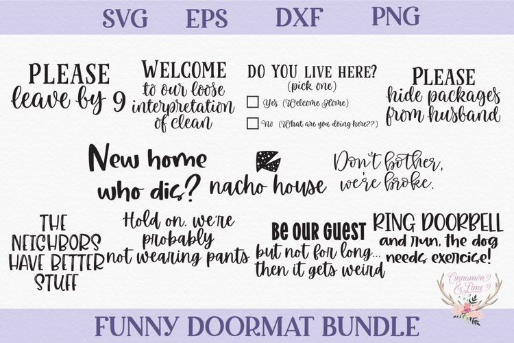 Funny Doormat SVG Bundle