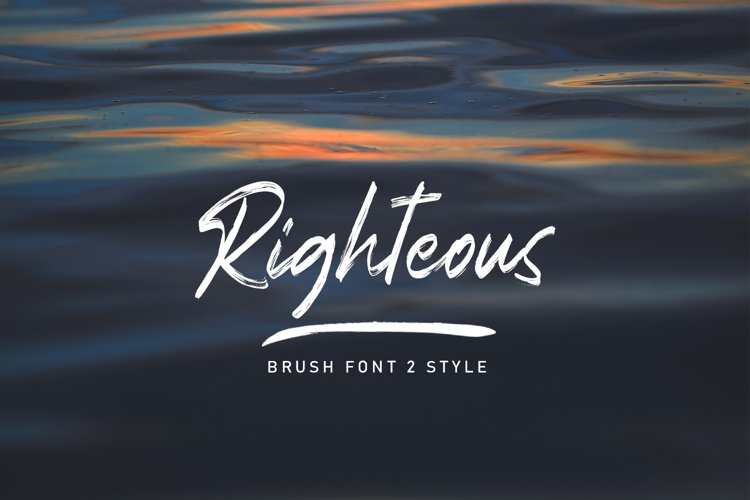 Righteous Handwritten Typeface Brush example image 1