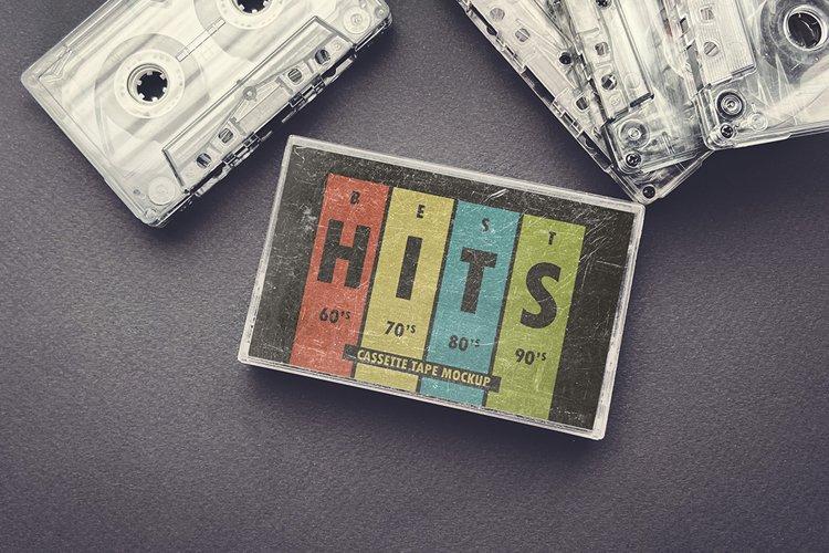 Vintage Cassette Tape Case With Cassette Mockup example image 1