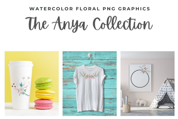 The Anya Collection - watercolor floral png graphics example image 1