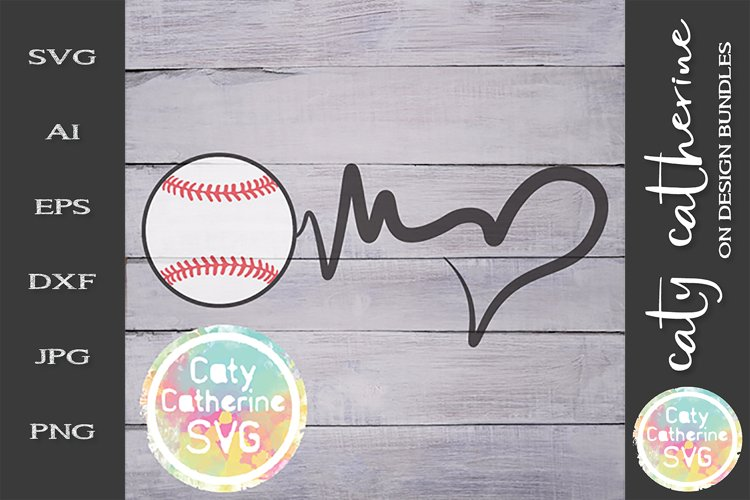 Download Heartbeat Love Heart Baseball Svg Cut File 243982 Svgs Design Bundles