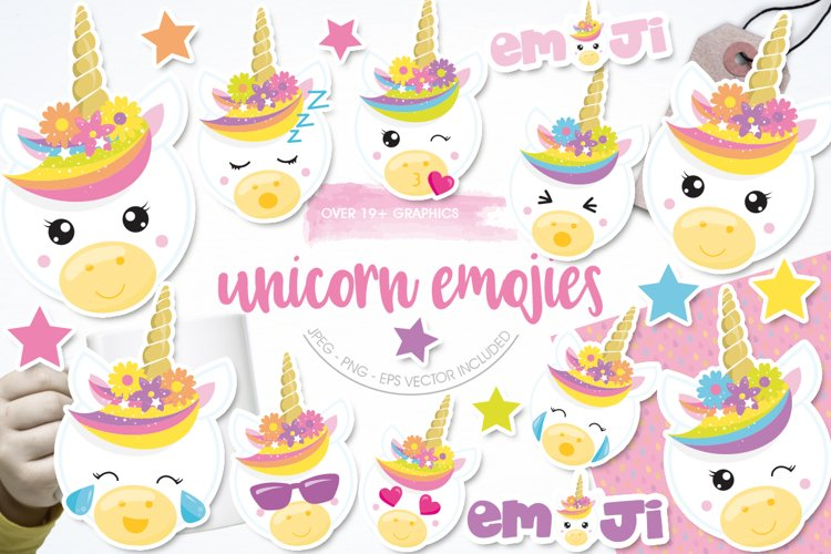 Unicorn emojis Graphics and illustrations, vecto example image 1