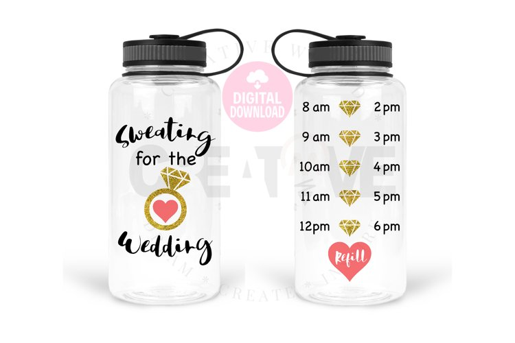 Sweating for the Wedding svg   Water Tracker svg example image 1