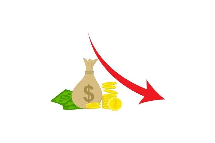 Money loss vector illustration example image 1