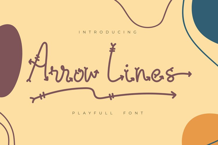 Arrow Lines   Playfull Font example image 1