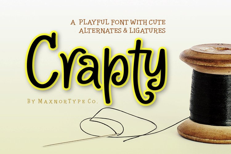 Crapty - a Playful Font with Cute Alternates & Ligatures example image 1