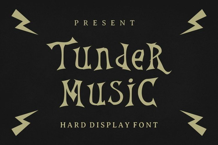 Web Font Thunder Music Font example image 1