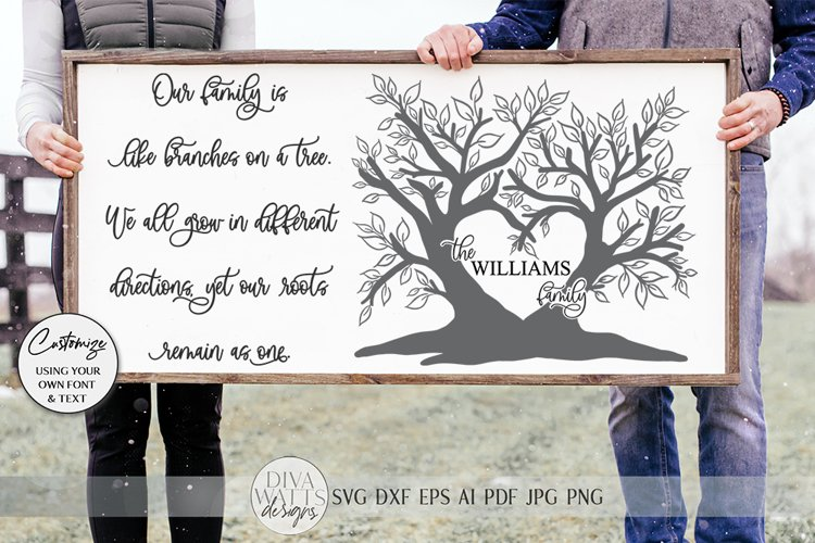 Our Family Is Like Branches On A Tree SVG | Farmhouse Sign