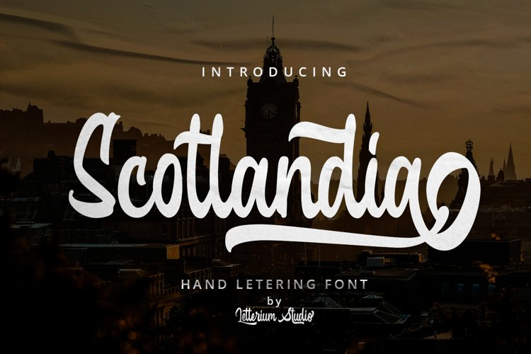 Scotlandia - Hand Lettering Font example image 1
