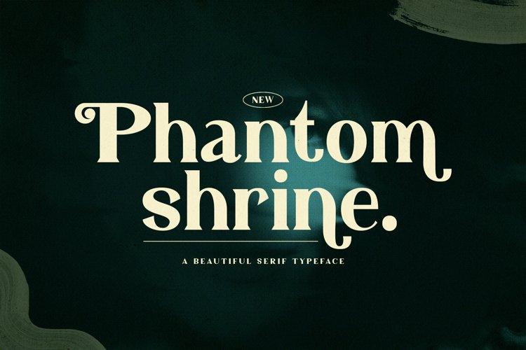 Phantom Shrine - Beautiful Serif Font example image 1
