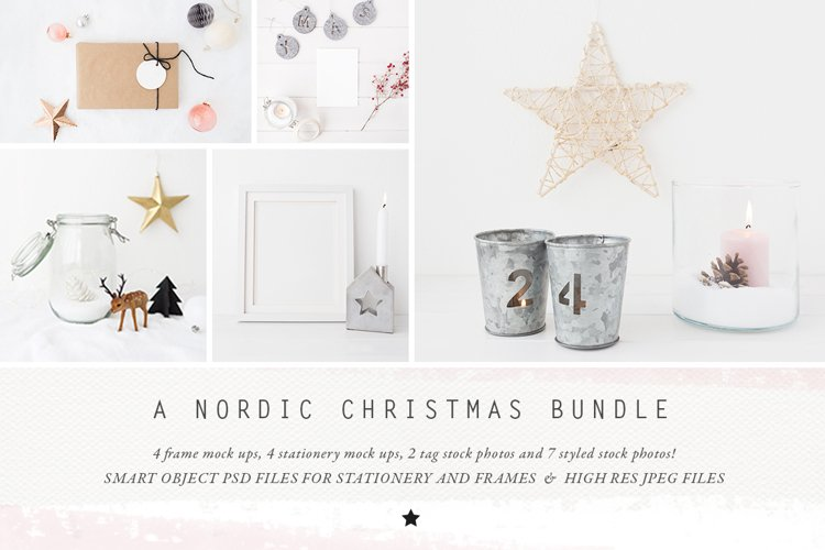 The Nordic Christmas mockup BUNDLE example image 1