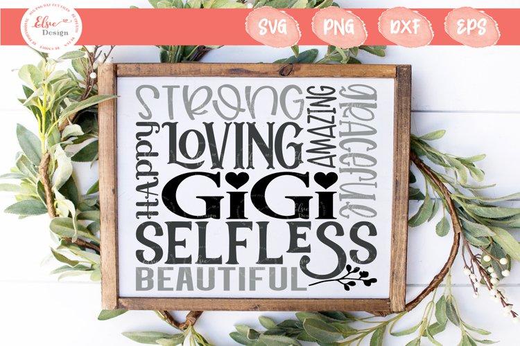 Gigi Subway Art SVG, PNG, DXF, EPS example image 1