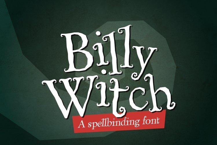 Billy Witch - a spellbinding swirly serif font