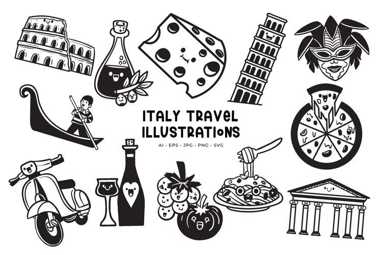Italy Travel illustrations