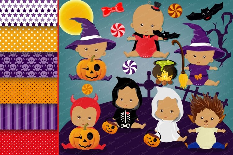 Halloween baby clipart, Haloween baby graphics example image 1