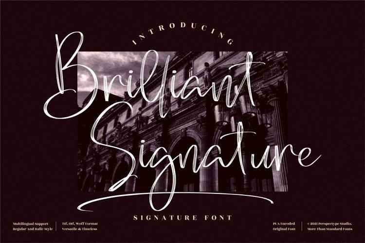 Brilliant Signature - Signature Script Font
