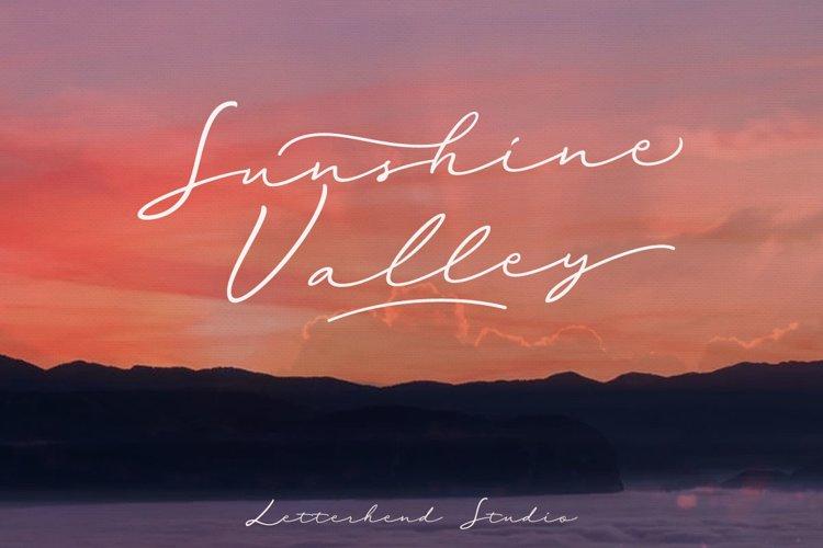 Sunshine Valley Script example image 1