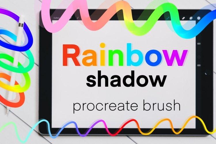Rainbow Shadow monoline brush for Procreate.