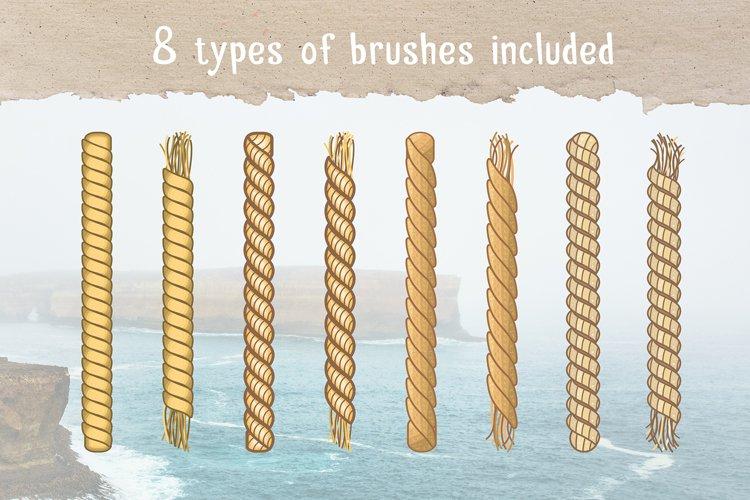Marine Rope Pattern Brushes Set example 1