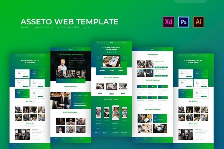 Asseto   Web Template example image 1
