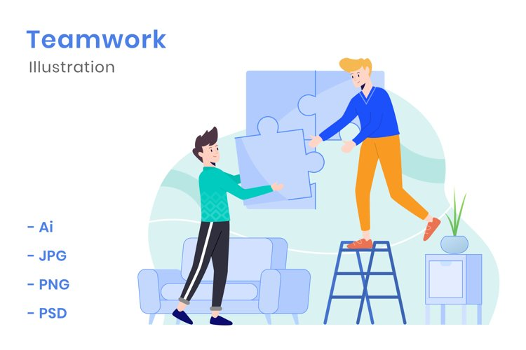 Teamwork Illustration example image 1