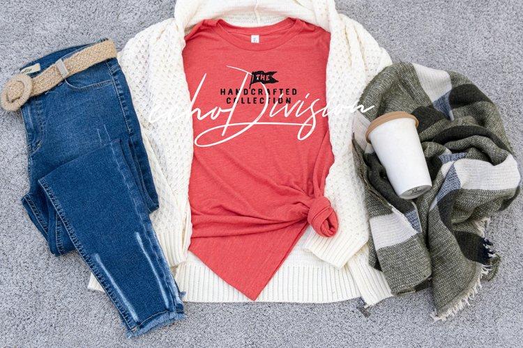 Shirt Mockup - Bella Canvas 3001 Heather Red