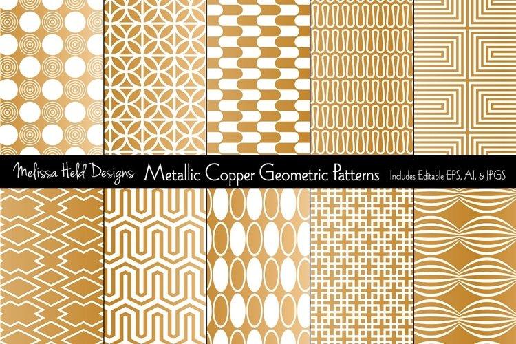 Metallic Copper Geometric Patterns example image 1