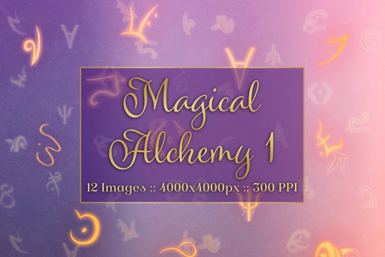 Magical Alchemy 1 - Background Images Textures Set example image 1