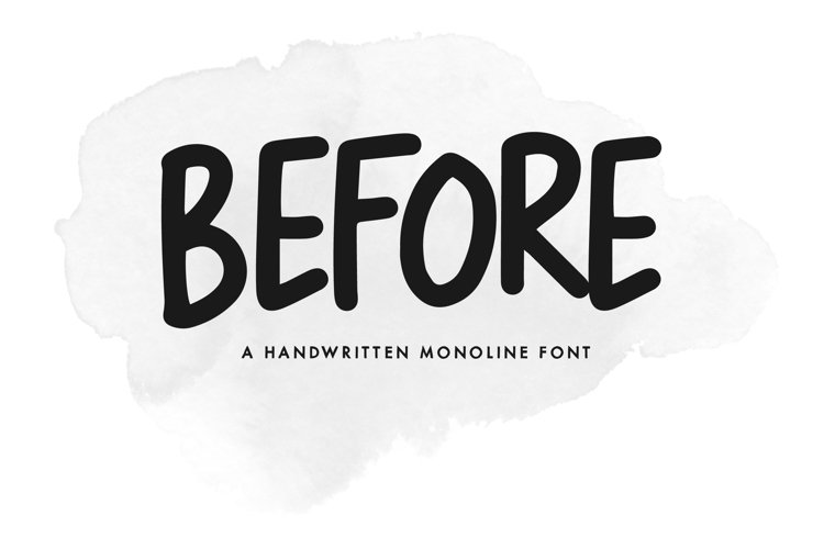Before - A Handwritten Monoline Font example image 1
