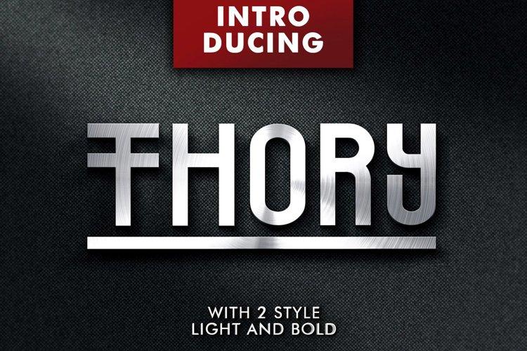 Web Font Thory Typeface example image 1