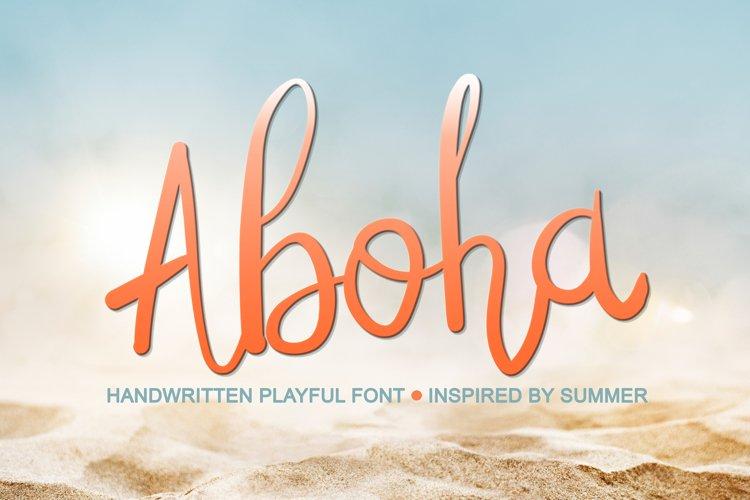 Abiola Script- Summer Handwritten Font, Tropical Font