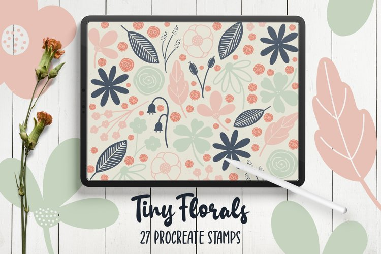 Hand Drawn Florals Procreate Stamp Brushes example image 1