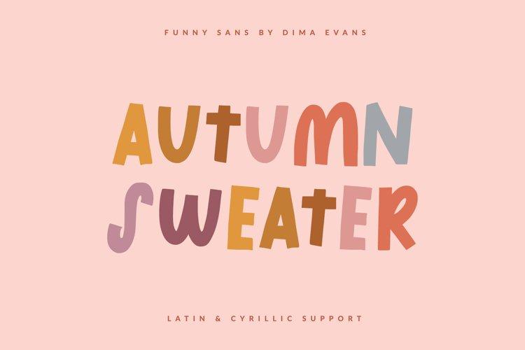 Autumn Sweater Cute Latin/Cyrillic