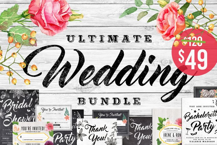 Massive Wedding Invite Bundle Flyer Save Date Bridal Shower