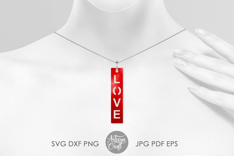 Love script earrings, SVG cut files example 2