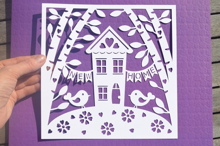 New home paper cut SVG / DXF / EPS files example image 1