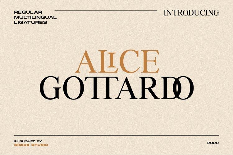 Alice Gottardo // Caps & Ligatures example image 1