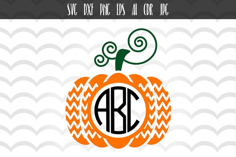 Pumpkin SVG DXF files, Halloween svg example image 1