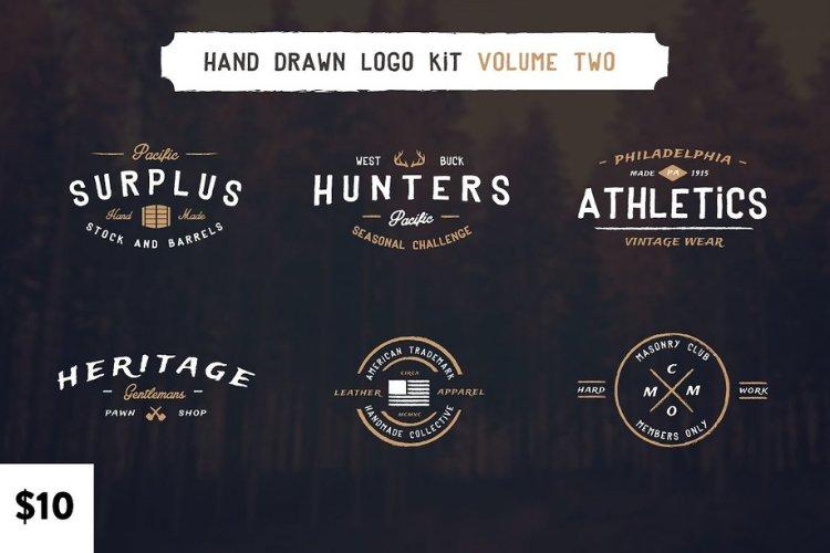 Vintage Hand Drawn Logos Volume Two example image 1