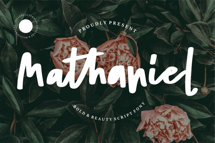 Web Font Mathaniel - Bold Beauty Script Font example image 1