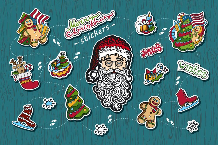 Christmas stickers. example image 1