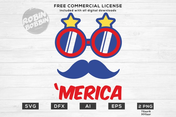 'Merica - America Design for T-Shirt, Hoodies, Mugs and more example image 1