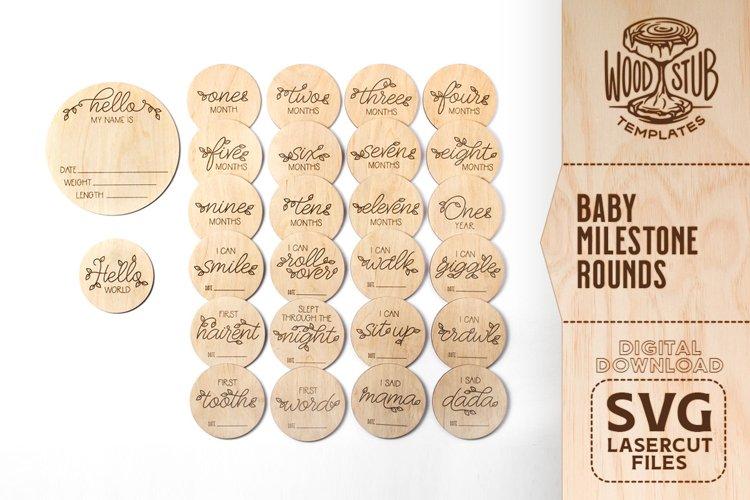 Baby Milestone SVG, Monthly Milestone SVG, Milestone rounds